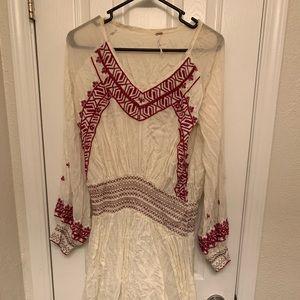 Free People Long Sleeved Bohemian Dress